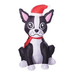 Inflatable Boston Terrier Christmas Lights up Dog